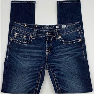 Miss Me Mid-Rise Skinny Jeans. Dark Wash. 29